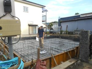 横浜市金沢区O様邸 基礎配筋検査