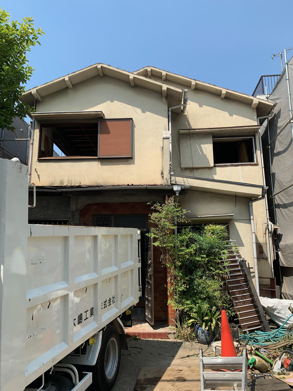 大田区K様邸 解体工事着手