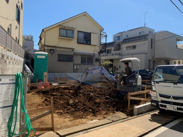 東京都目黒区S様邸 基礎工事着工