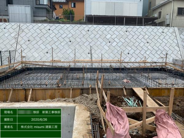 横浜市泉区 M様邸 基礎工事完了