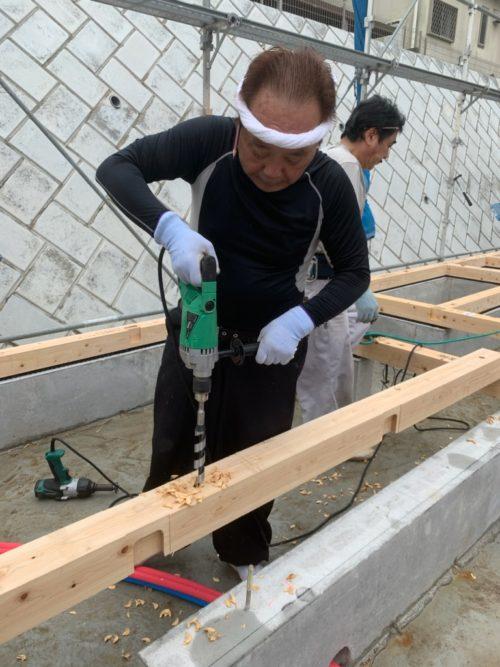 横浜市泉区 M様邸 土台敷き工事