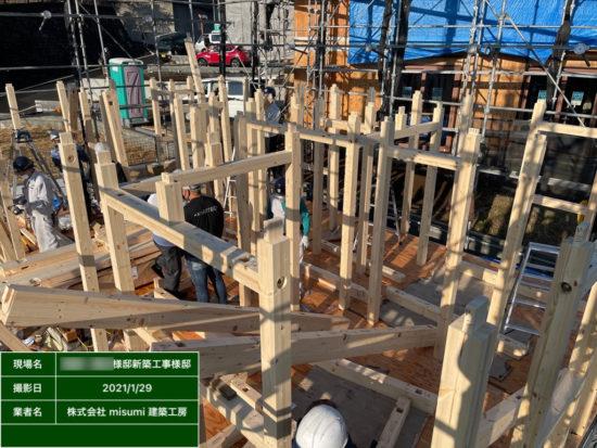 町田市S様邸 建方工事